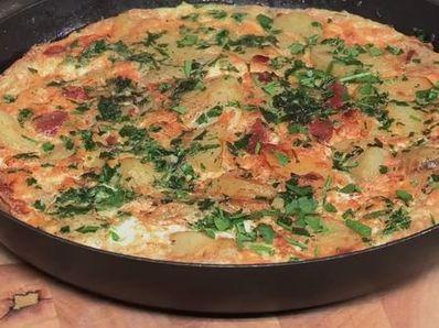 Испански омлет с картофи и чоризо