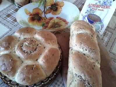 Царевичен хляб с ленено семе