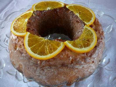 Портокалов кекс с глазура