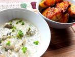 Печени картофи с гъбен сос