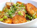 Картофи с песто и зелен боб