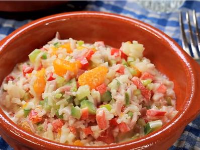 Интересна салата с ориз