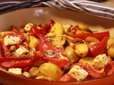 Печени зеленчуци по гръцки