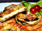 Печени патладжанени сандвичи с пилешко
