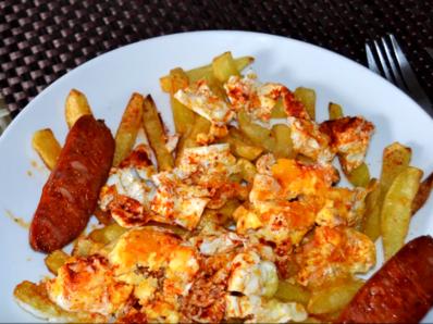 Испански пържени яйца (Хуевос ротос)