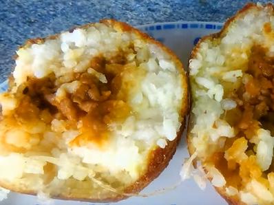 Солени оризови топки
