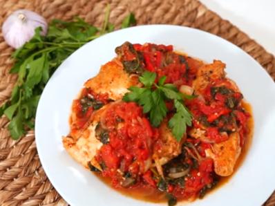 Пилешко по италиански