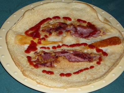 Солени палачинки с бекон и кашкавал
