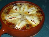 Запечен сач с шунка и зеленчуци