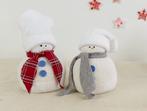 Коледна украса: Снежни човечета от ориз