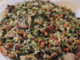 Ориз със спанак, бекон и боб