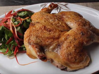 Уникален метод за печене на пиле