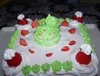 Снежна бисквитена торта