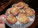 Кексчета с портокалови корички, орехи и шоколадова глазура
