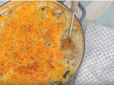 Касерола с ориз и броколи