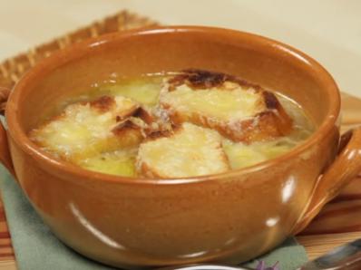 Лучена супа - огретен