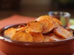 Пикантен чипс от сладки картофи