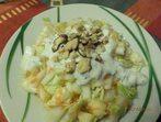 Зелева салата с орехи
