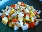 Салата от варени зеленчуци