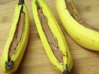 Уникален банан с течен шоколад