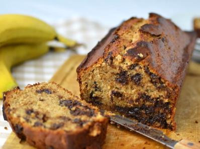 Бананов кекс с парченца шоколад