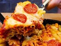 Пица с блат от макарони
