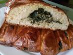 Плетен хляб със спанак