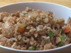 Пържен ориз с месо