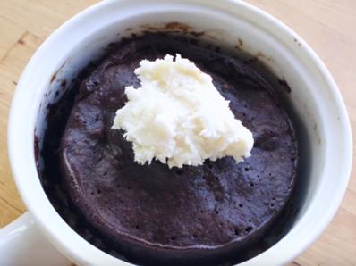 Бързо шоколадово кексче без брашно