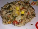 Постен ориз със спанак
