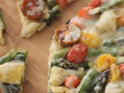 Зеленчукова пица с артишок