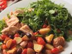 Салата с риба тон и печени зеленчуци