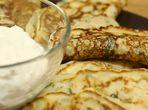 Палачинки със сирене и билки