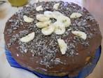 Бананова торта с вафли