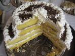 Сметанова торта с банани