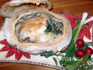 Пиле в хлебна кора