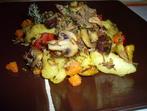 Дива патица с картофи