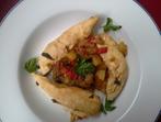 Филенца със зеленчуци и салвия