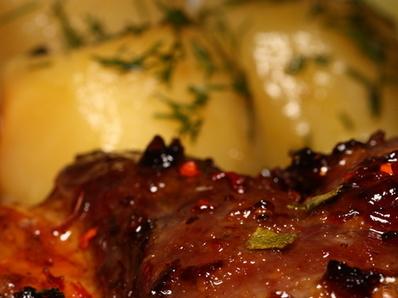 Картофи с пиле и маслини