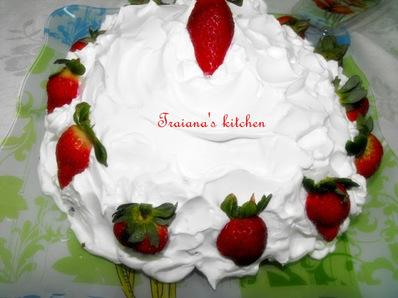 Бърза торта с готови рула