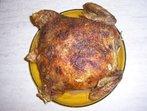 Пълнено пиле с пържоли и гъби