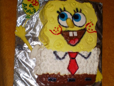 """Торта """"Спондж Боб"""""""