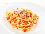 Спагети с аншоа и риба тон