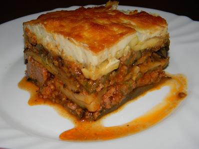 Гръцка мусака (със зеленчуци на скара)