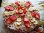 Бисквитена торта с плодове