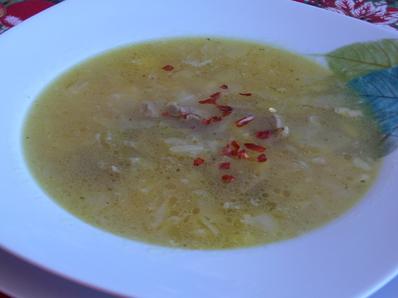 Супа с кисело зеле и свинско месо