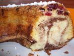 Шарен кекс с червени сушени боровинки