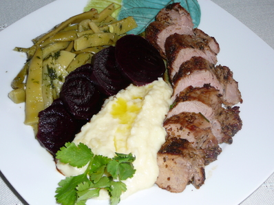 Свинско бон филе с риган