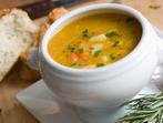 Супа от сьомга с овесени ядки