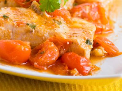 Риба със зеленчуци